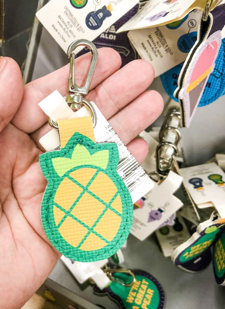 aldi quarter holder keychain