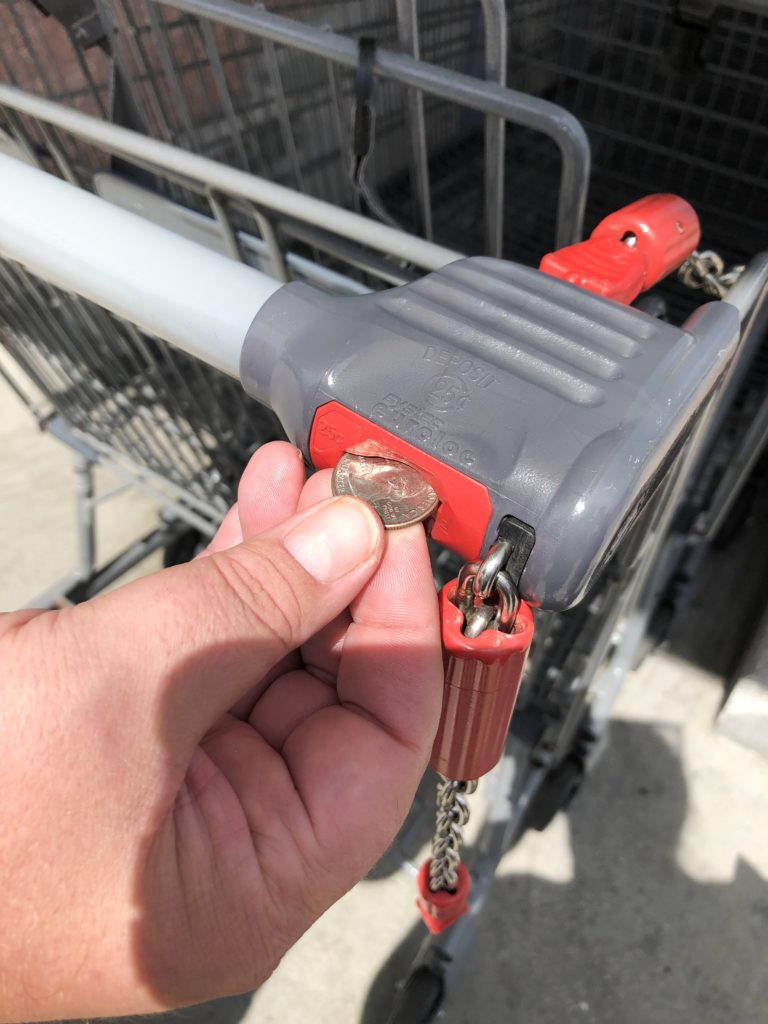 aldi quarter shopping cart