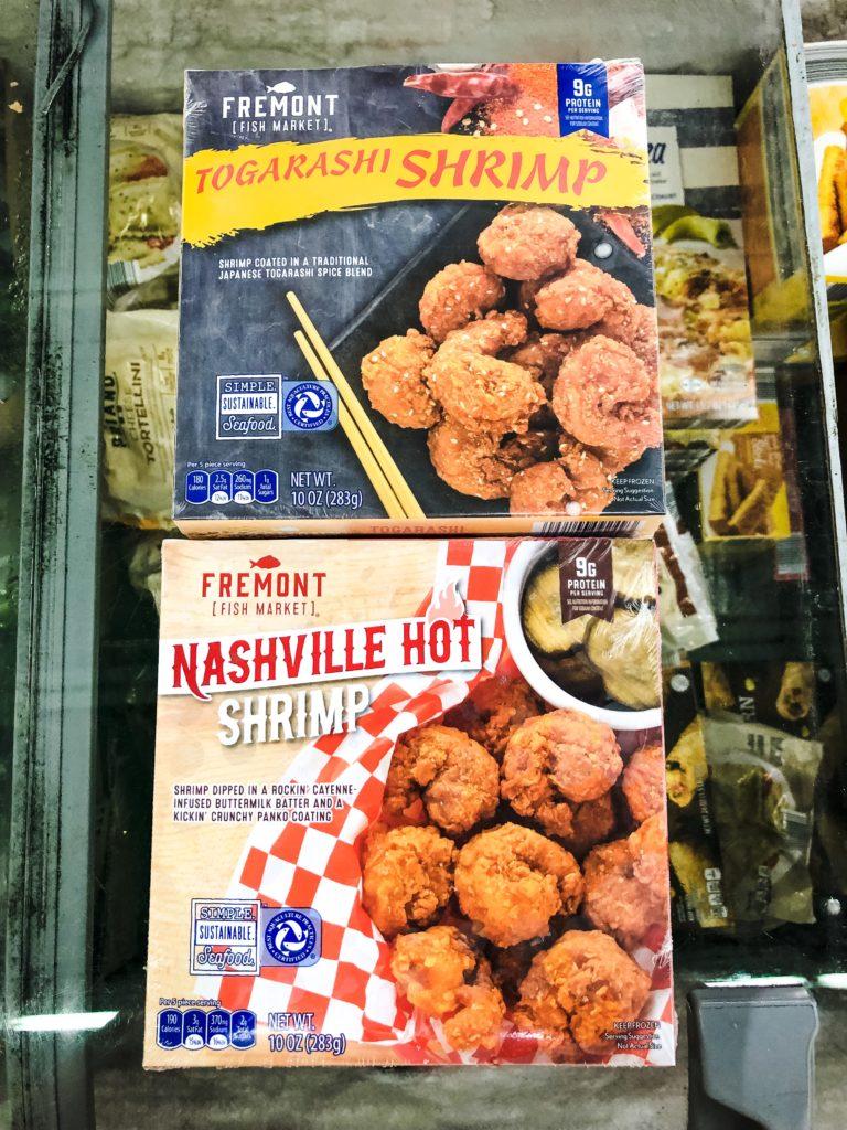 Fremont Nashville Hot Shrimp and Togarashi Shrimp from Aldi