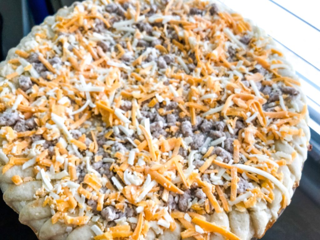 frozen breakfast pizza