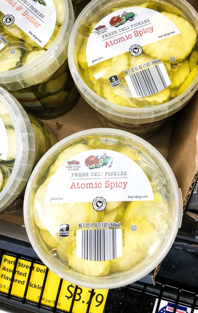 Aldi Atomic pickles for copycat chick fil a sandwich