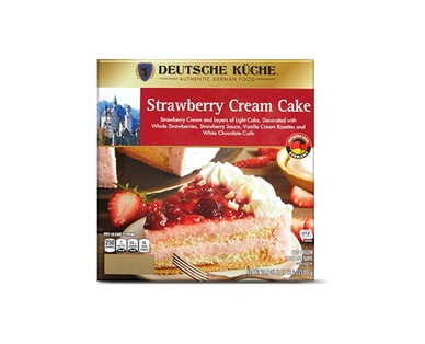 Aldi German Week Strawberry Cream Cake