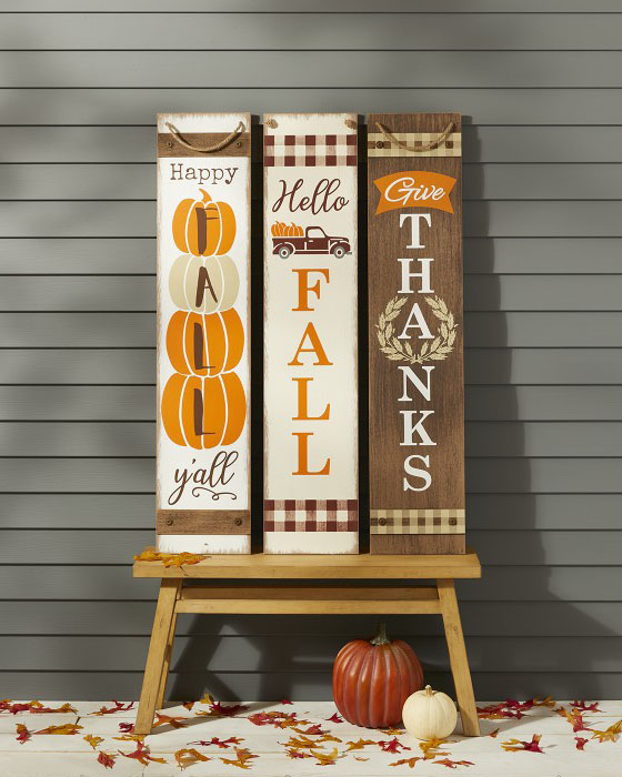 Huntington Home Fall Reversible Porch Sign for fall