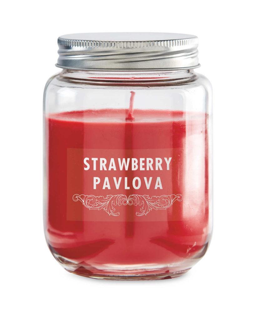 Aldi strawberry pavlova candle