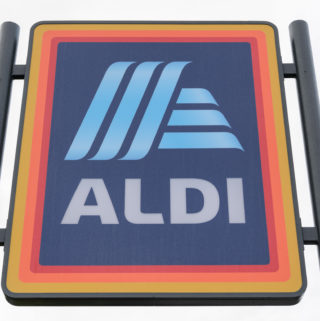 Aldi UK store sign