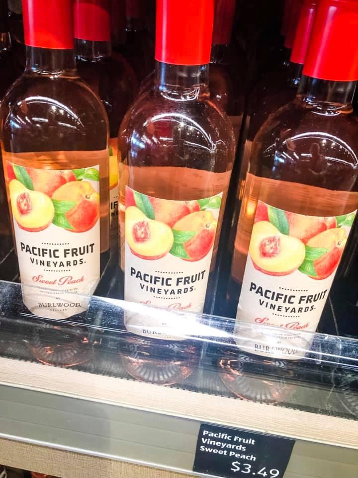 Aldi peach wine