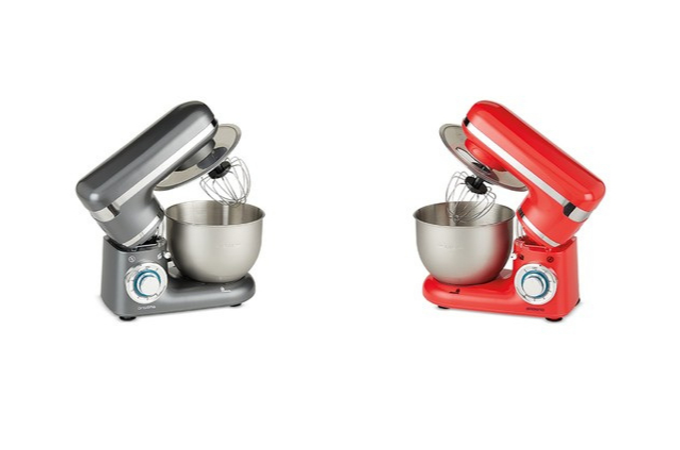 Red and Gray Ambiano Stand Mixer