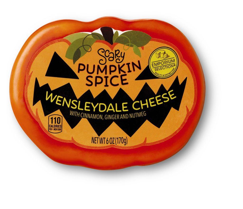 Aldi Pumpkin spice Halloween Cheese