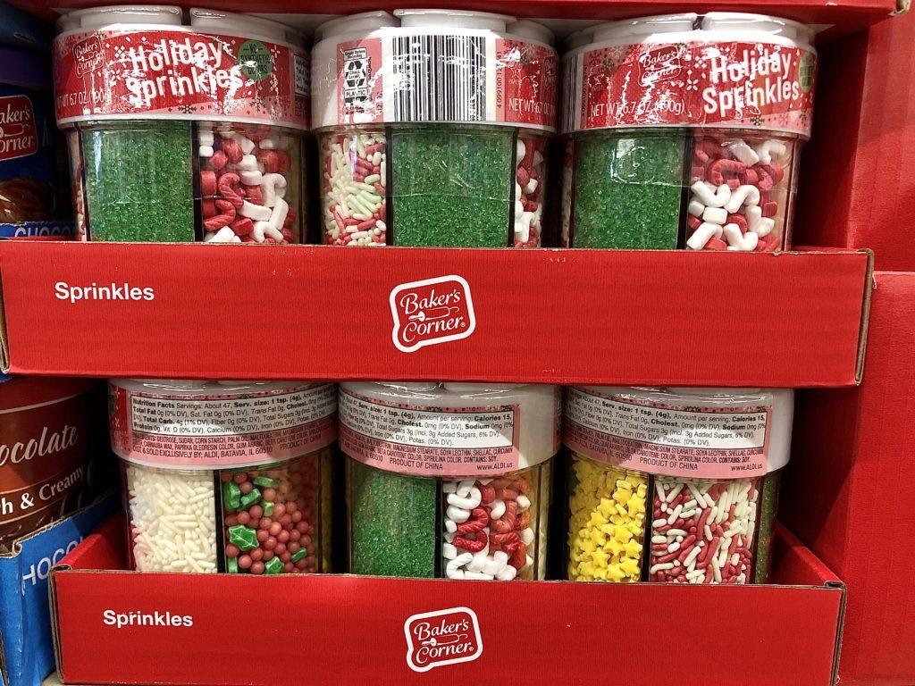 Aldi holiday baking sprinkles