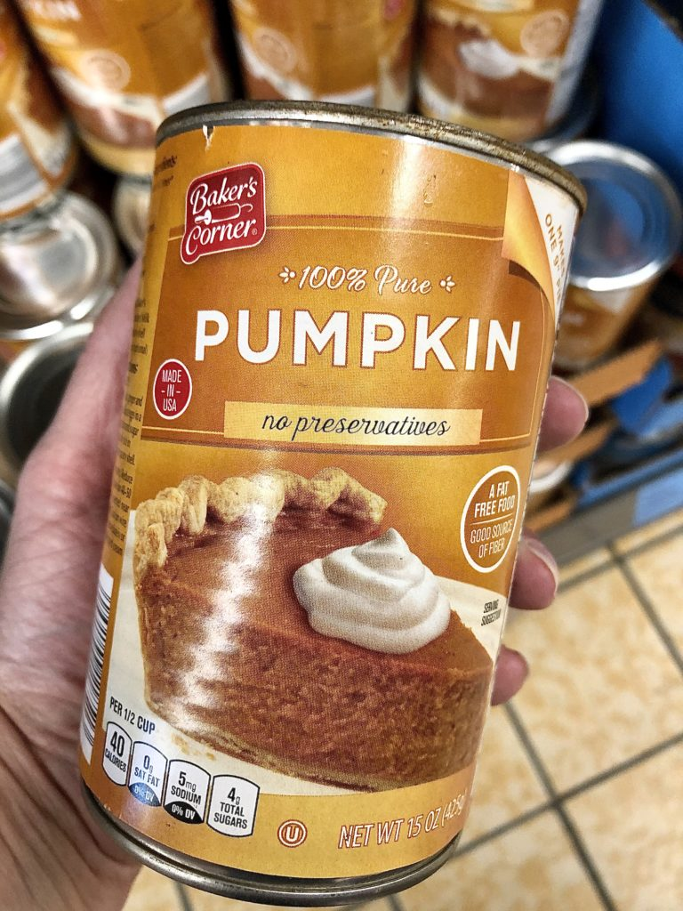 Aldi canned pumpkin