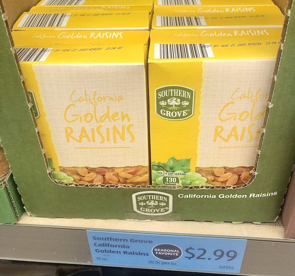 Aldi golden raisins