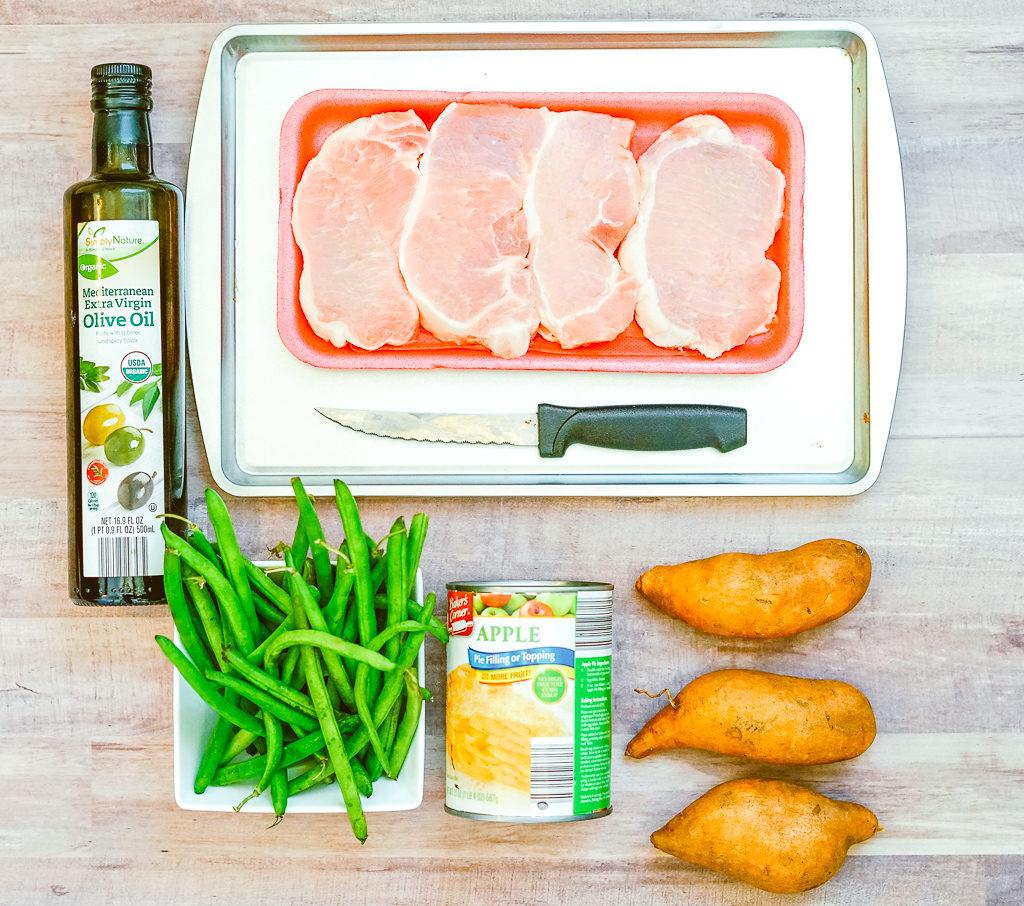 Sheet Pan Apple Pork Chops ingredients