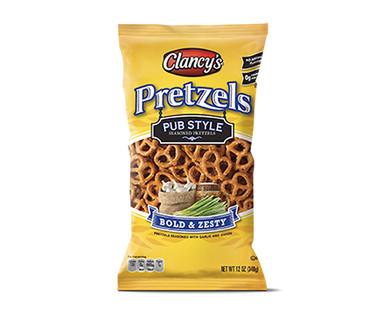 Clancy's seasoned pretzels