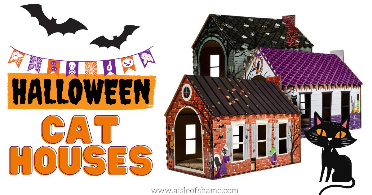 aldi halloween cat house