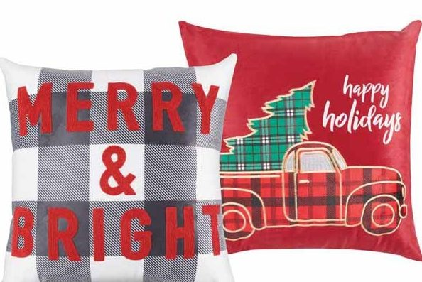 Aldi holiday pillows
