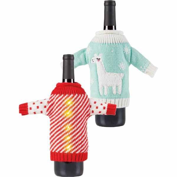 Aldi ugly sweater wine covers