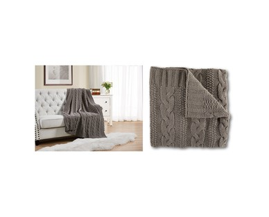 Aldi cable knit throws
