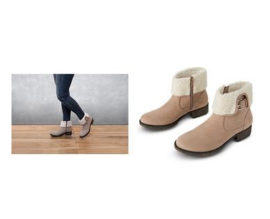 Gray Aldi Foldover Boots