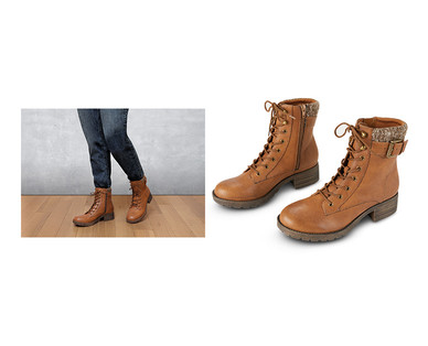 Brown Lace-Up Aldi Boots