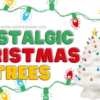 aldi ceramic christmas trees