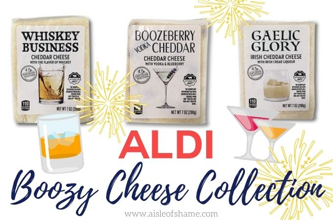 boozy cheese collection at aldi