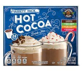 Aldi hot cocoa sampler