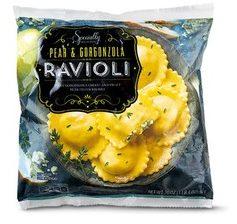Aldi pear gorgonzola ravioli