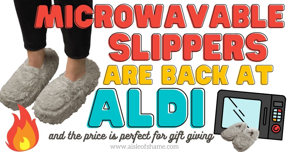 microwavable slippers are back at aldi