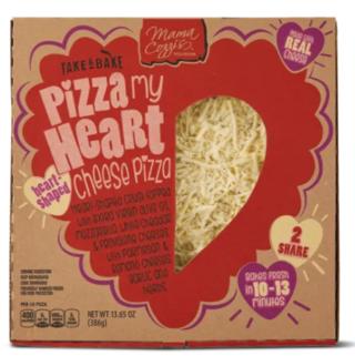 Heart-shaped pizza