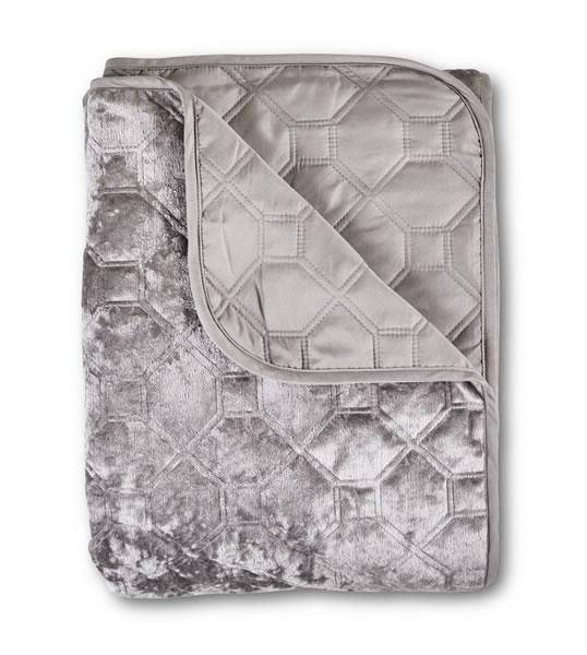 aldi gray velvet quilt