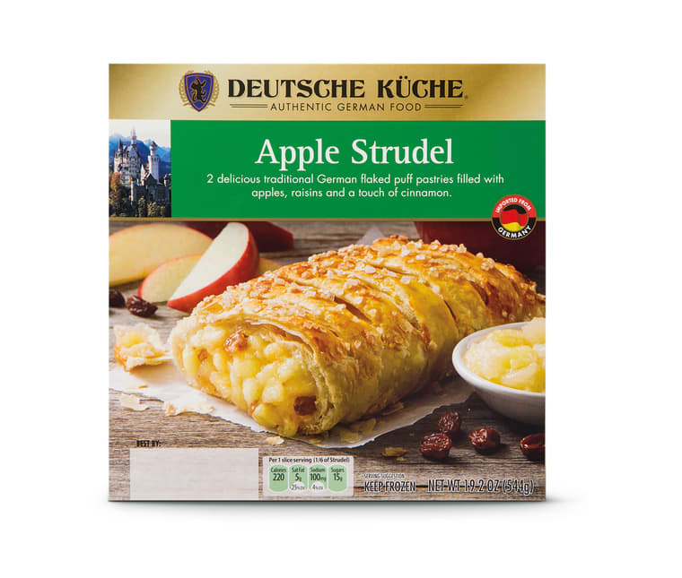 This frozen strudel will be for sale during the next Aldi German Week, coming up in March 2020.