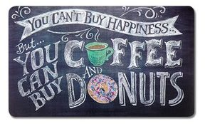 coffee and donuts kitchen mat