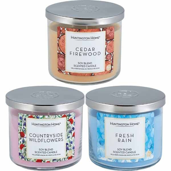 3-wick candle scents