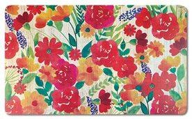 floral kitchen mat