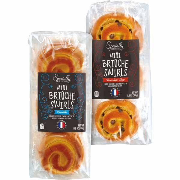Mini brioche swirls at Aldi