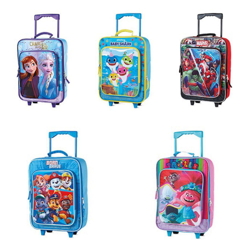 Suitcases for kids sold at Aldi