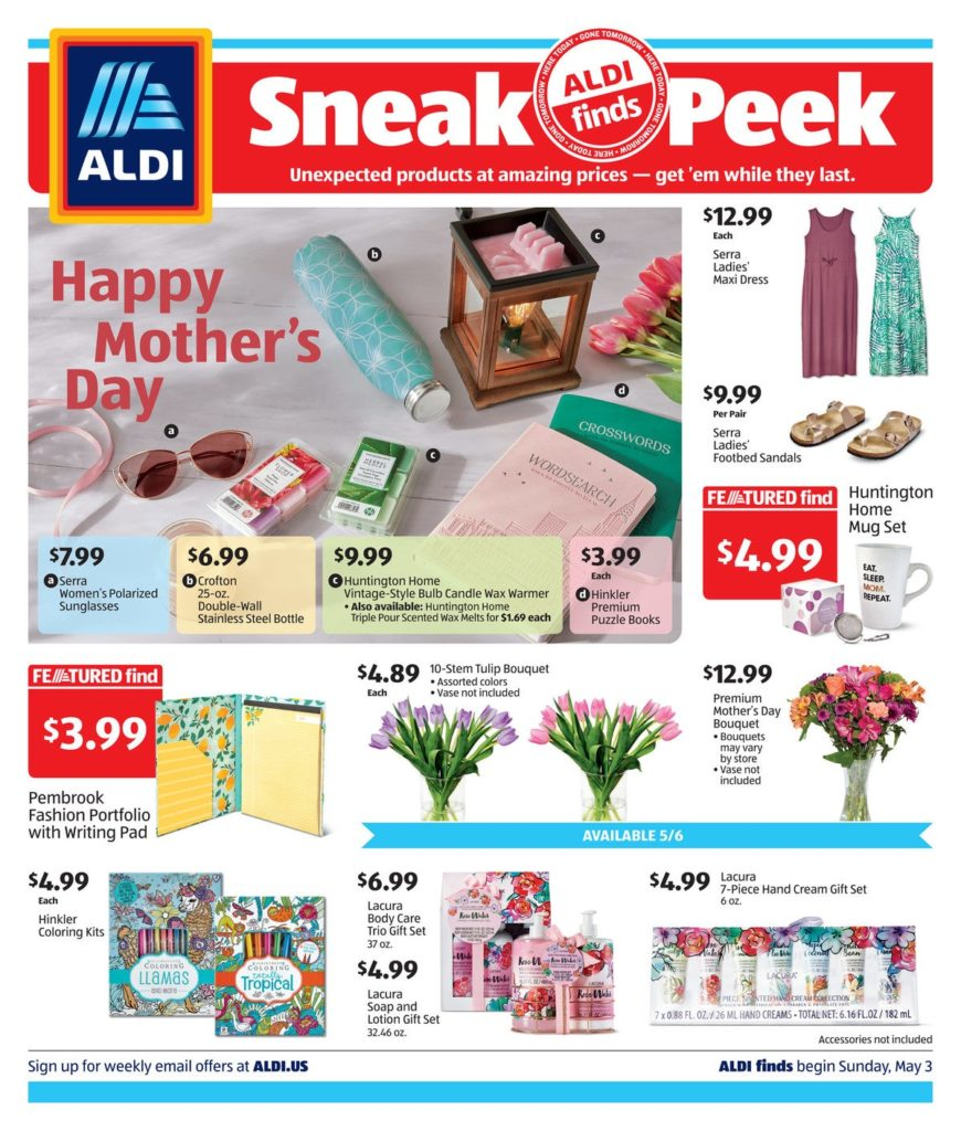 Aldi ad may 6th