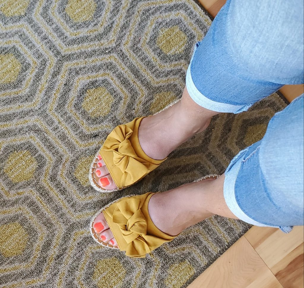 These Aldi Yellow Sandals