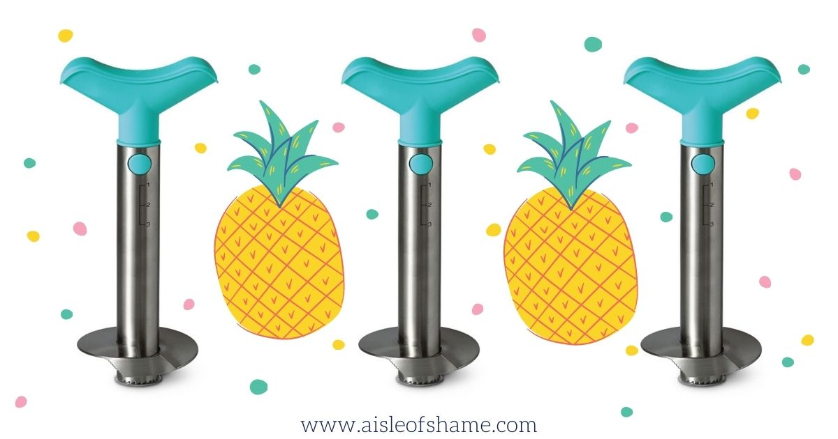 image of 3 pineapple slicers from aldi