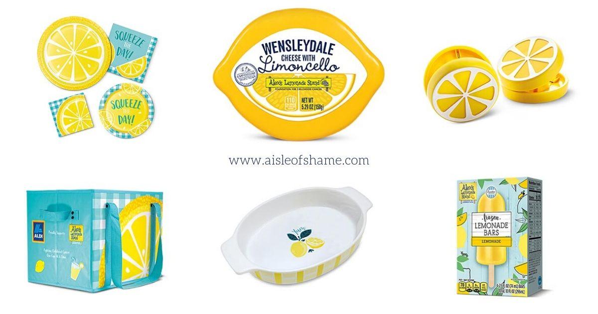 Aldi lemon items in July