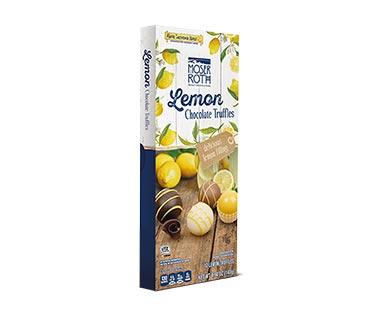 Lemon chocolate truffles