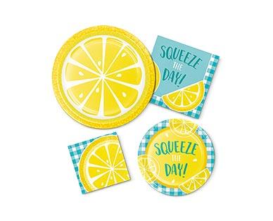 Aldi lemon tableware