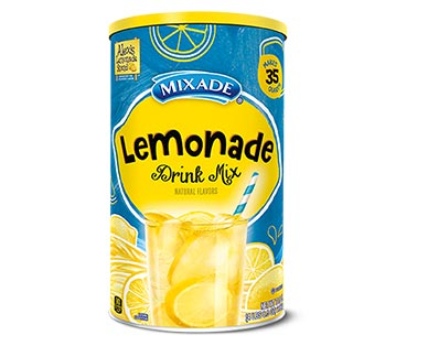 Mixade lemonade drink mix