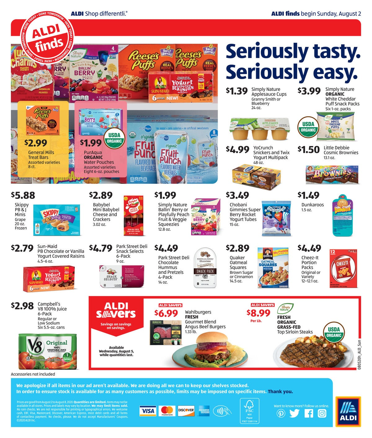 aldi ad preview August 5th - August 11th