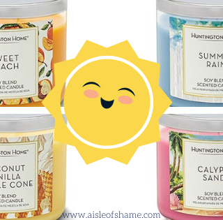 Aldi Summer candles