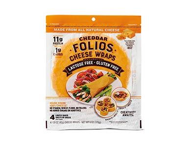 Folios Cheese Wrap Cheddar