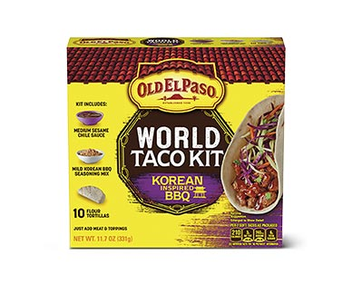 Old El Paso Korean Inspired BBQ Taco Kit