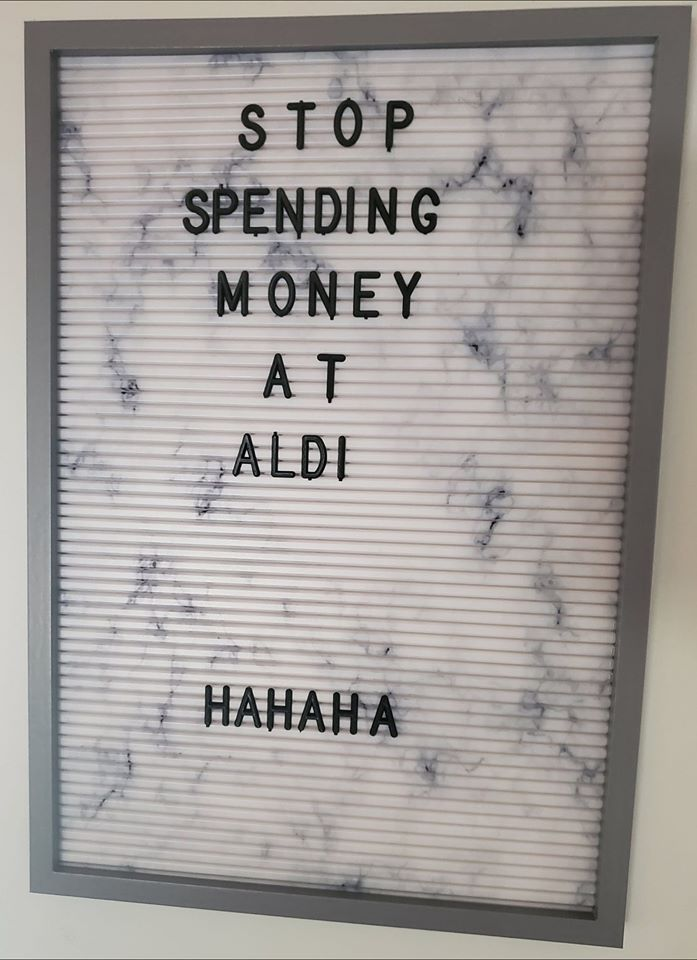 aldi letter board funny