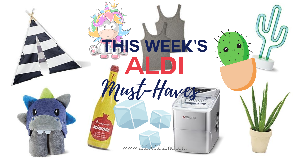 this week's best aldi finds including a countertop ice maker, kids tent and cactus lamp