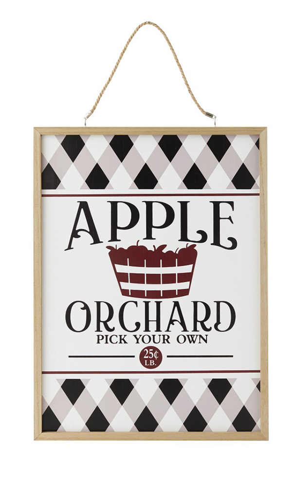 Fall Reversible Wall Sign aldi apple orchard